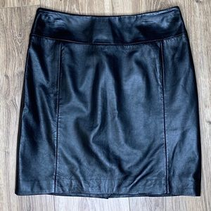 H&M Black Leather Mini Skirt